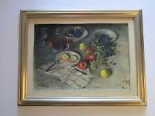 FINEST SERGIO BISSI OIL PAINTING STILL LIFE ITALIAN IMPRESSIONIST PAINTER LISTED