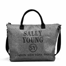 Ladies Sally Young Sports Bags SILVER & WHITE Cross Body Bag SY2183