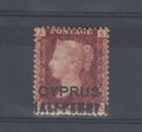 Cyprus QV 1881 1/2d On 1d Red O/P SG7 MH J9307
