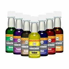 7 x Simpa® Concentrated Liquid Food Colouring Set of 7 Colours.