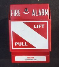 FIRE ALARM PULL BOX  Wall Mount, Red Metal, Man Cave Firehouse Motif