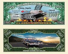 2 Notes 1960 Chevy Impala Classic Car Series Novelty Million Dollar Notes