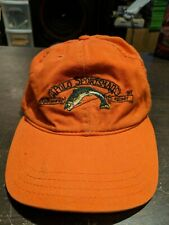 VINTAGE ORANGE POLO SPORTSMAN RALPH LAUREN CAP HAT FISHING TACKLE CAMPING