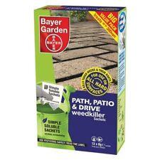 BAYER GARDEN PATH, PATIO & DRIVE WEEDKILLER SACHETS 12