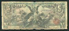 """FR. 268 1896 $5 FIVE DOLLARS """"EDUCATIONAL"""" SILVER CERTIFICATE CURRENCY NOTE"""