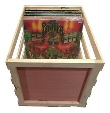 "18"" Wooden Vinyl Record Storage Crate - Album, LP, Record Storage and Display"