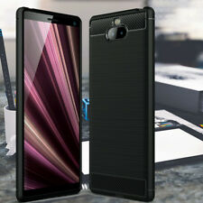 Sony Xperia 10 High End Shock Resistant CARBON FIBER Design ION ™ Case BLACK