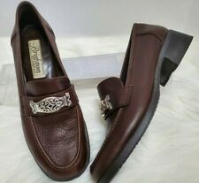 Brighton Deluxe Made In Italy Women's Size 7N Brown Loafer Shoe Career  S-63