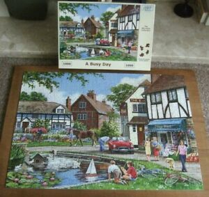 JIGSAW by HOUSE of PUZZLES  *** A BUSY DAY - 1000 PIECE JIGSAW *** USED