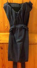 ALL SAINTS 'Jessamine' Corset Blue Boned Structured Belted Dress SZ UK 10
