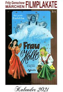 Märchenkalender 2021 (Wandkalender DIN A4) Filmplakate von Fritz Genschow