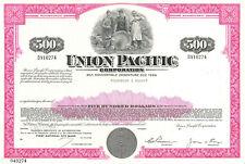 Union Pacific > $500 railroad bond certificate