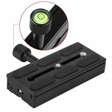 DSLR Camera Stand Tripod Quick Release Plate Mount Screw Adapter w bubble level