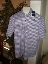 NWT CHAPS RALPH LAUREN POLO S/S MULTI-CHECKED DRESS SHIRT SZ:3XB 3XL 3X XXXL