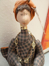 Tribal Handmade Doll   Cloth - Folk Art  on stand  21 inches tall