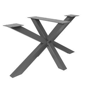 Tischgestell Stahl grau SPK 201 X Kreuz Spider Gestell Esstisch Wohnzimmer