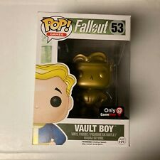 Funko Pop Fallout 53 Game Stop Exclusive Vault Boy Gold