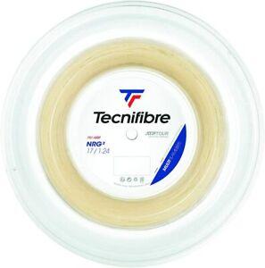 Tecnifibre NRG2 Tennis Racket String - 1.24mm / 17G - 200m Reel - Natural