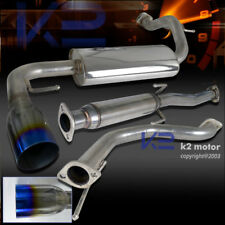 For Honda 1988-1991 CRX Burn Tip Catback Exhaust Muffler System