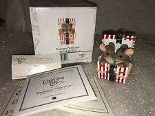 "Charming Tails ""Packaged With Love"" Dean Griff Nib Christmas Ornament"