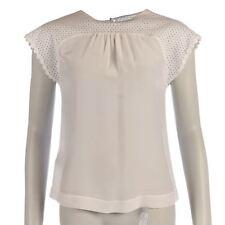 Silk Patternless Regular Size Blouses for Women
