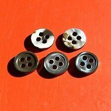 15 Real Trocas Yoko Shell Sewing Shirt Buttons 10mm 4H Smoke Gray D133