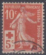 timbre france semeuse croix rouge