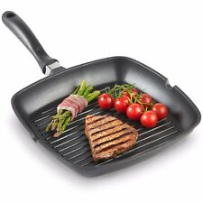 VonShef 28cm Non-Stick Cast Aluminium Induction Grill BBQ Frying Griddle Pan