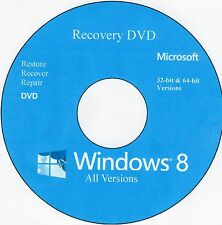 "Windows 8 Recovery DVD "" 16 in 1 Versions"" 32-bit & 64-bit"