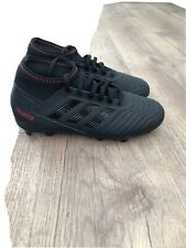 Boys Black Adidas Predator Football Boots Size UK3.5