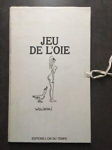 WOLINSKI RARE JEU de l'OIE ÉROTIQUE  / JEU de SOCIETE tirage limité n° 428/1000