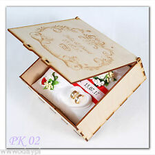 plywood wooden BOX for wedding cards wishing well  ENGRAVED TOP personalized