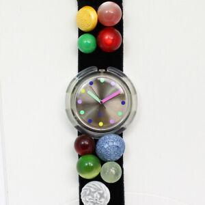 Swatch POP Bottone PWK 153 Christmas Special 1990/91 Quartz Wristwatch - NEW