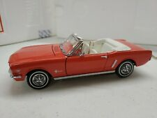 Franklin Mint 1/24 Scale Diecast - 1964 1/2 Ford Mustang Convertible Red W/ Box
