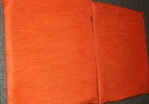 """Crate and Barrel Lamont Pillow Covers Cayenne 16"""" - Set of Two"""