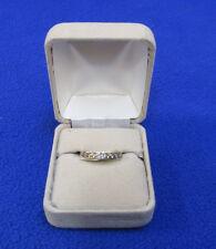 Diamond Band Ring Ladies 10K Gold 10 Diamonds  1/2 CT Size 6.5 6 1/2 NOS