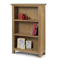 Julian Bowen Astoria Solid Oak Waxed Finish Wood Low Bookcase