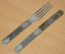 GERMAN WWII HEER SOLDIER'S CUTLERY EATING SET, MARKED WITH OAK LEAFS