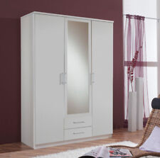 Roma GERMAN White 3 Door 2 Drawer Triple Wardrobe - BEST DEAL