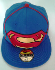 New Era 59Fifty Superman Big/Under Logo Fitted Hat-New Old Stock - 7 5/8- 2009