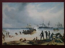 POSTCARD FRIENDLY NATIVES HELPING 1ST BN RIFLE BRIGADE AT ALGOA BAY S AFRICA 185