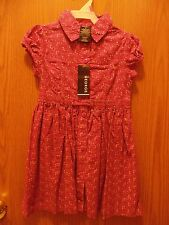 Girls short sleeved light courdory dress~ size 6X