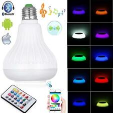 E27 Bluetooth Control Smart Music Audio Speaker LED RGB Color Bulb Light Lamp US