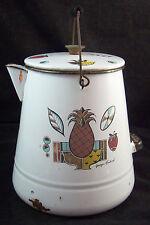 Georges Briard Ambrosia White Porcelanite Enamel 3 Gallon Coffee Pot Pail Kettle