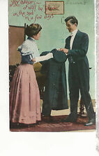 My Dear I will be Johnnie on the Spot in a few Days   Mailed 1909  Postcard 1227