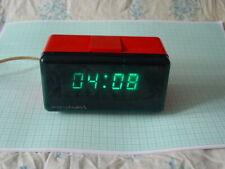 Red Case ELEKTRONIKA 6.11  VFD DIGITAL ALARM CLOCK nixie era Vintage ex-UdSSR