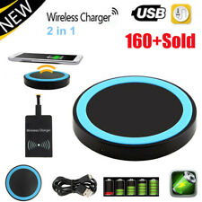 Universal Qi Wireless Charger Pad w/ Charging Receiver for Android Mobile Phone