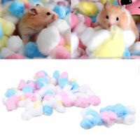 100x Warm Cotton Ball Cage House Filler for Dwarf Hamster Rat Rabbit Pet Supply