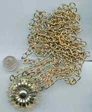 Vintage Gold Tone Belt Flower Multi Strand N371