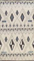 Vegetable Dye Geometric Modern Moroccan Berber Oriental Area Rug Handmade 6'x9'